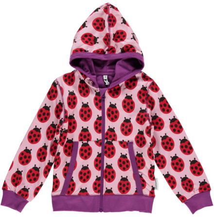 Maxomorra Cardigan Hood Ladybug