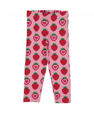 Maxomorra Cropped Leggings Strawberry
