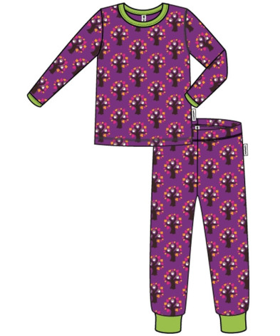 Maxomorra Pyjamas Set LS Oak Tree