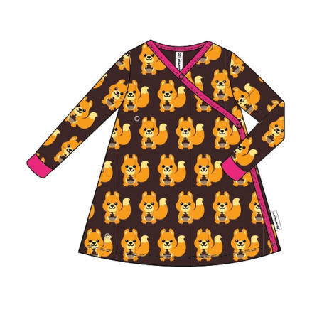 Maxomorra Dress Wrap Squirrel