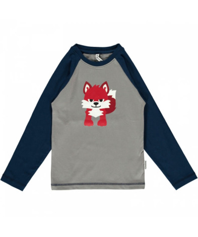 Maxomorra Top LS Print Fox