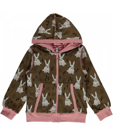 Maxomorra Cardigan Hood Rabbit