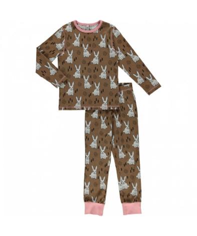 Maxomorra Pyjamas Set LS Rabbit