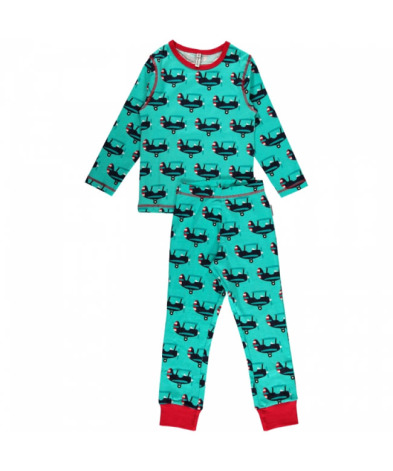 Maxomorra Pyjamas Set LS Plane