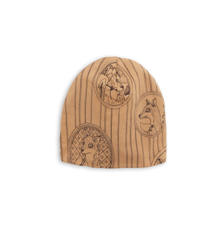 Mini Rodini Fox Family Beanie Brown