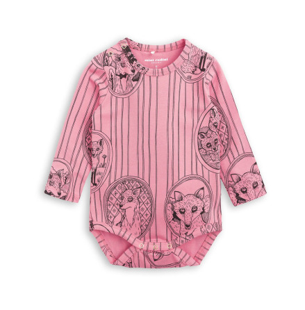 Mini Rodini Fox Family Body Pink