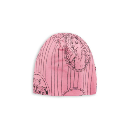 Mini Rodini Fox Family Beanie Pink