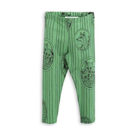 Mini Rodini Fox Family Leggings Green