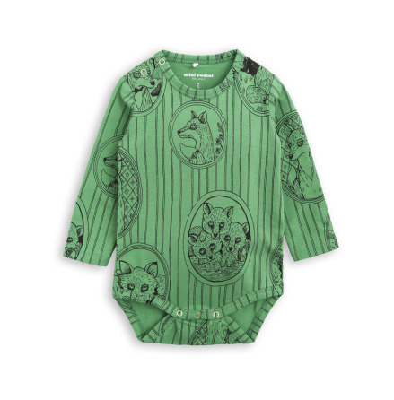 Mini Rodini Fox Family Body Green