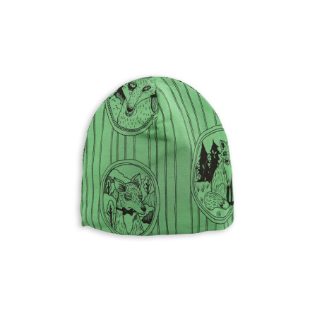 Mini Rodini Fox Family Beanie Green