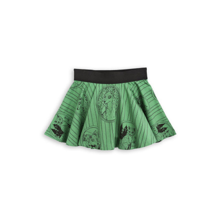Mini Rodini Fox Family Skirt Green