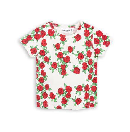 Mini Rodini Rose SS Tee Offwhite