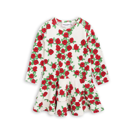 Mini Rodini Rose LS Frill Dress Offwhite