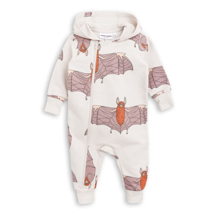 Mini Rodini Bat Onesie Light Grey