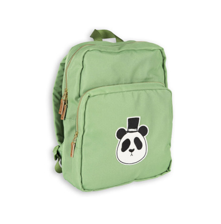 Mini Rodini Panda Backpack Green