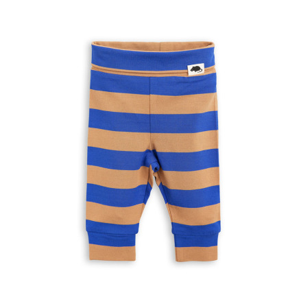 Mini Rodini Blockstripe NB Leggings Blue
