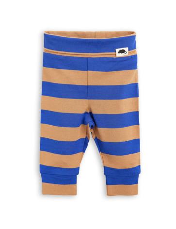 Mini Rodini Blockstripe NB Leggings Blue