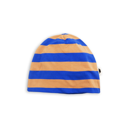 Mini Rodini Blockstripe Beanie Blue