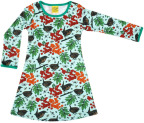 Duns LS Dress Rowanberry Blue Green