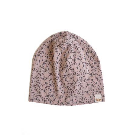 By Heritage Kerstin Beanie Print Old Pink