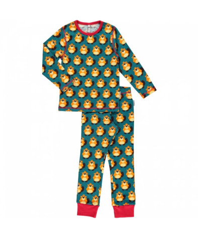 Maxomorra Pyjamas Set LS Beaver