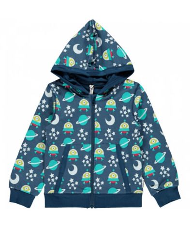 Maxomorra Cardigan Hood Spaceship