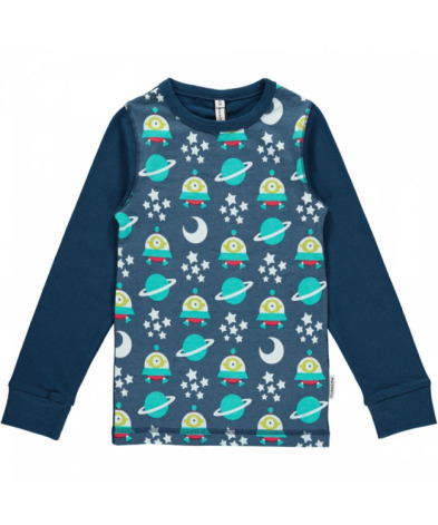 Maxomorra Top LS Print Spaceship