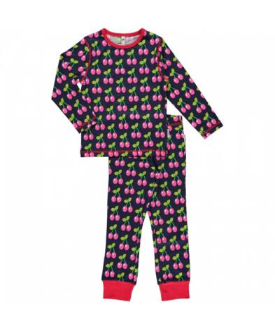 Maxomorra Pyjamas Set LS Cherry