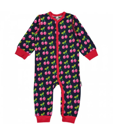 Maxomorra Pyjamas LS Cherry