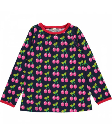 Maxomorra Top LS Cherry