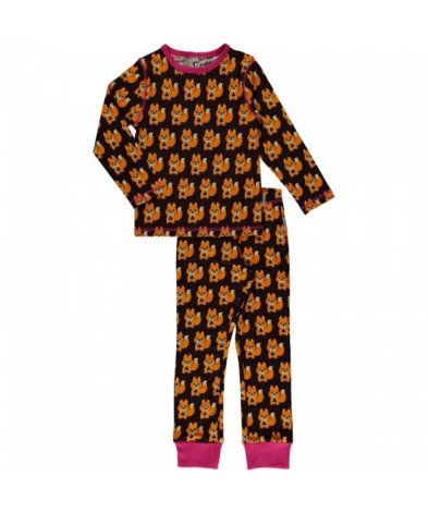 Maxomorra Pyjamas Set LS Squirrel