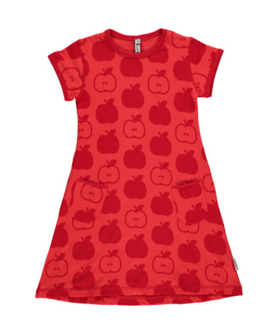 Maxomorra Dress SS Apple