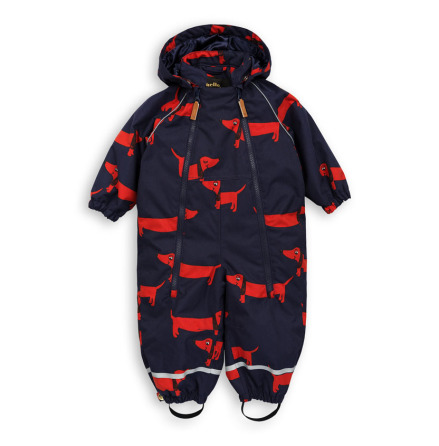 Mini Rodini Alaska Dog Baby Overall Navy