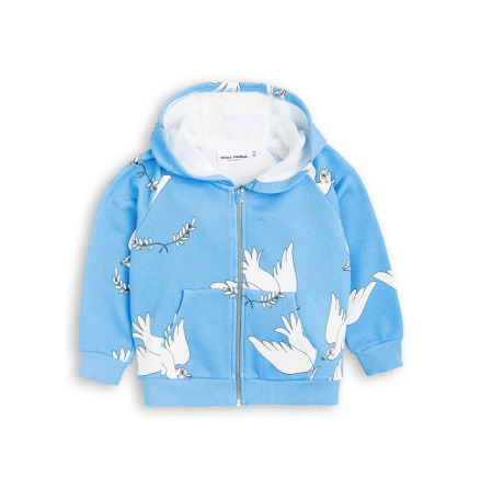 Mini Rodini Peace Zip Hood Blue