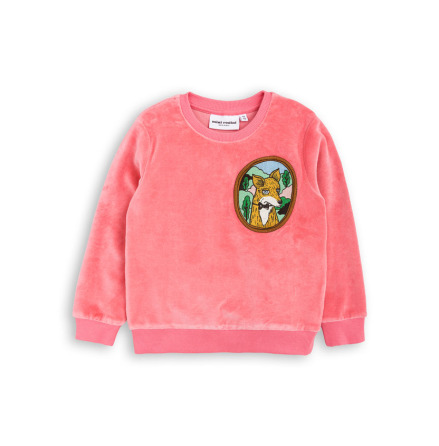 Mini Rodini Fox Velour Sweatshirt Pink