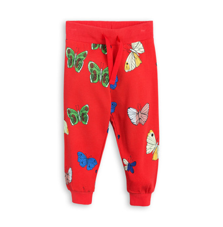 Mini Rodini Butterflies Sweatpants Red