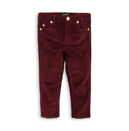Mini Rodini Cord Tiger Fit Burgundy