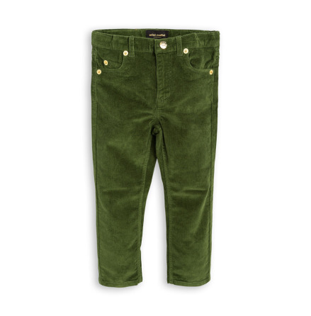 Mini Rodini Cord Tiger Fit Dark Green