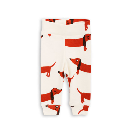Mini Rodini Dog NB Leggings Offwhite
