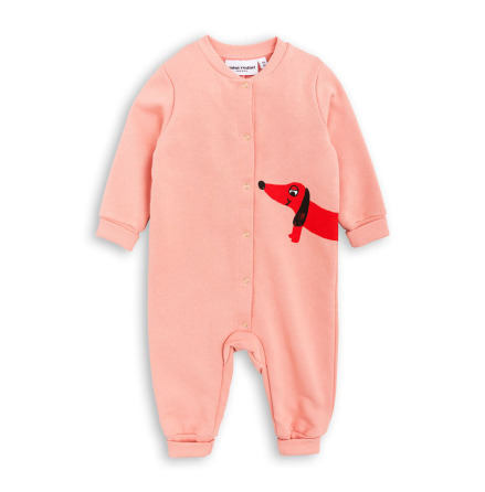 Mini Rodini Dog Onesie Pink