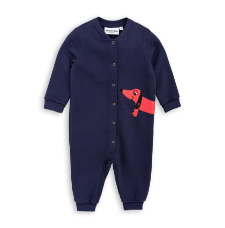 Mini Rodini Dog Onesie Navy