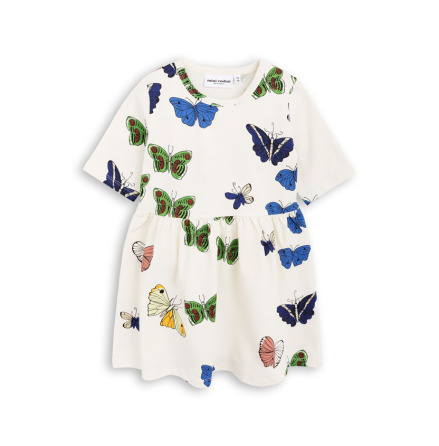 Mini Rodini Butterflies SS Dress Offwhite