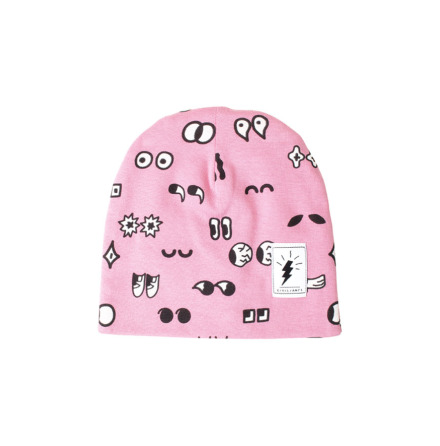 Civiliants Printed Jersey Beanie Pink