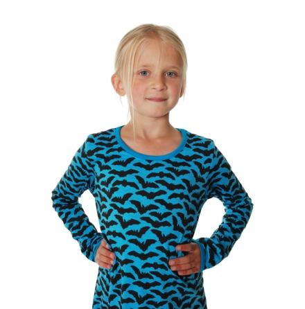 Duns LS Dress Bats Blue