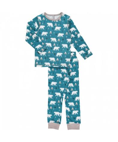 Maxomorra Pyjamas Set LS Polar Bear