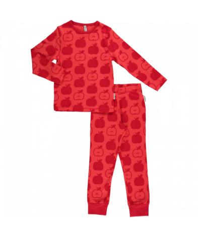 Maxomorra Pyjamas Set LS Apple