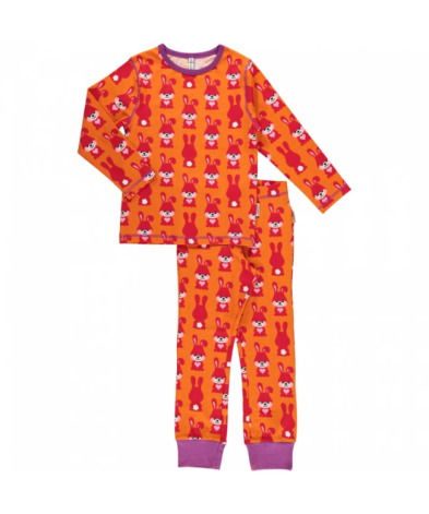 Maxomorra Pyjamas Set LS Rabbit