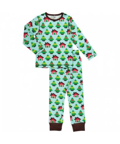 Maxomorra Pyjamas Set LS Forest
