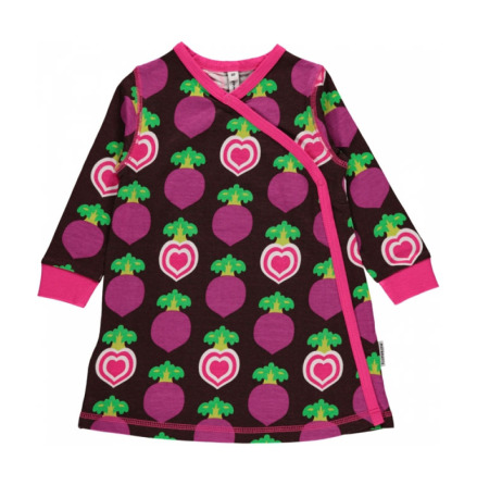 Maxomorra Dress Wrap Polka Beet