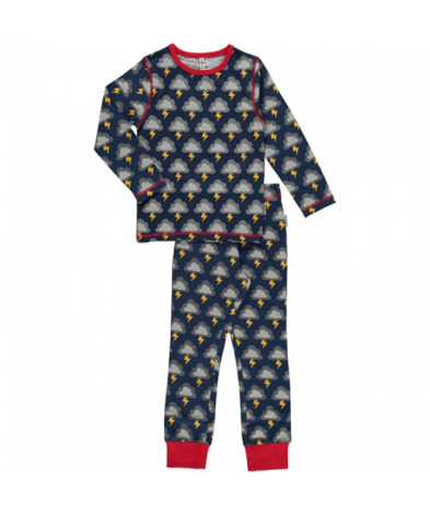Maxomorra Pyjamas Set LS Lightning
